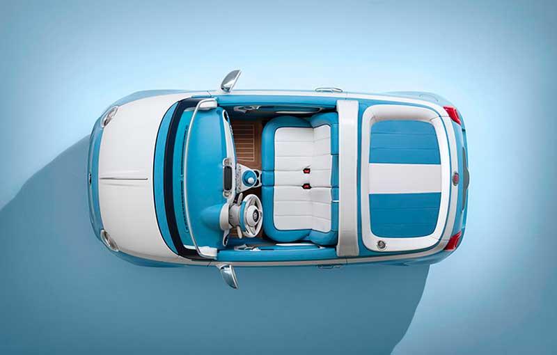 Fiat 500 Spiaggina '58 Vista superior