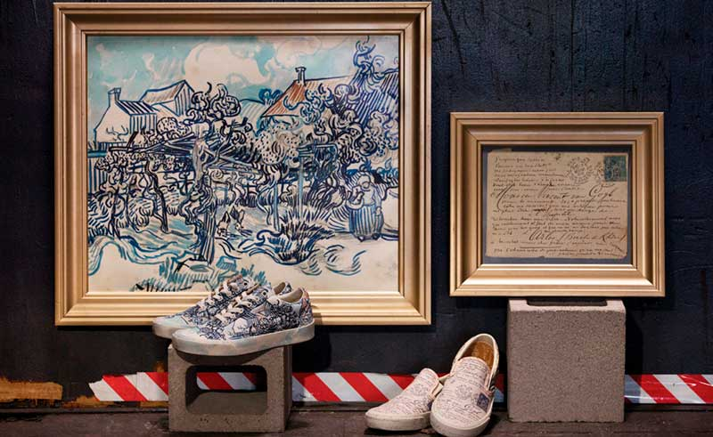 Vans y Van Gogh Museum Old Vineyard with Peasant Woman