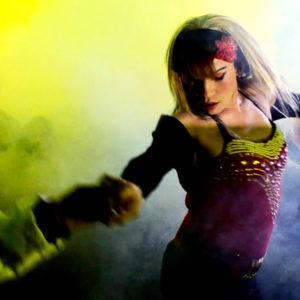 Sonidero en la carpa de Ambulante del Vive Latino