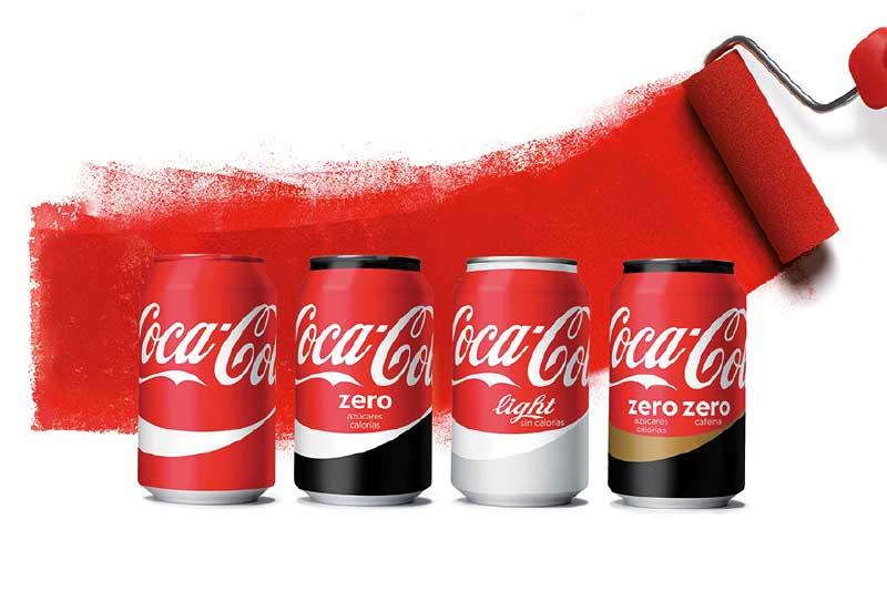 Pantones exclusivos de marcas Coca-Cola