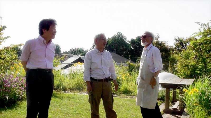 Toshio Suzuki, Hayao Miyazaki e Isao Takahata
